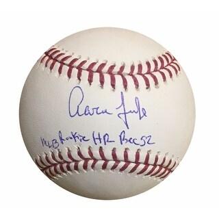 Aaron Judge Autographed MLB Rookie Home Run Record LE of 99 Signed Baseball Fanatics and MLB COA