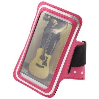 Anti Dust Universal Screen Protector Armband Phone Arm Band Holder Fuchsia