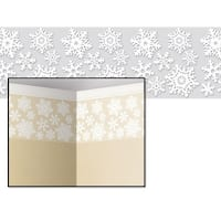 "Pack of 6 Christmas Holiday Decorative Snowflake Border 24"" x 30' - White"