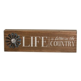 Country Life Windmill Table Sign