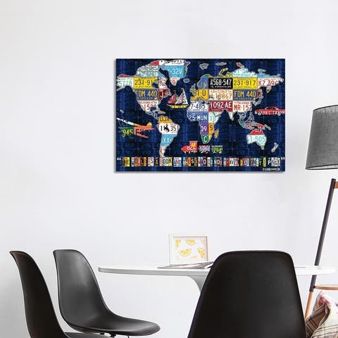 """iCanvas """"World Map 2016 Augustine"""" by Design Turnpike Canvas Print"""