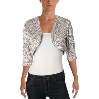 R&M Richards Womens Bolero Lace Sequined