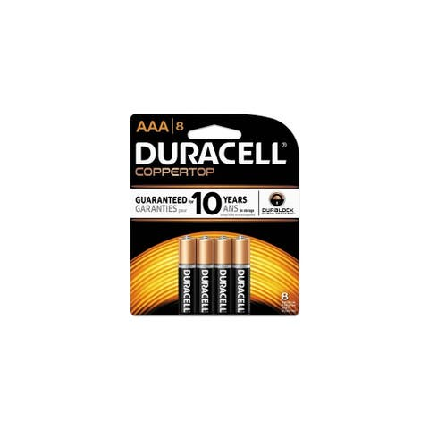 Duracell 1.5V CopperTop AAA Batteries MN2400B8ZCT CopperTop AAA Batteries