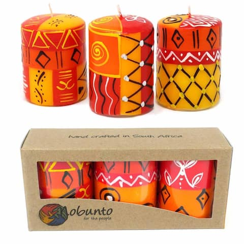Handmade Zahabu Votive Candles, Set of 3 (South Africa)