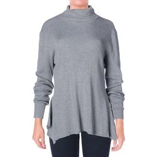 MICHAEL Michael Kors Womens Long Sleeve Flare Hem Turtleneck Sweater