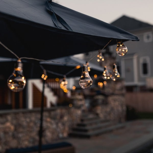 Early Edison Solar Powered LED Patio Bulb String Lights - 2 Pack - 2 Pack. Opens flyout.