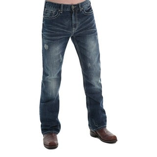B. Tuff Western Jeans Mens Denim Horsepower Barbed Dark Wash