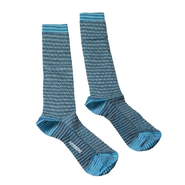 Missoni GM00VMD5462 0003 Turquoise Knee Length Socks - M