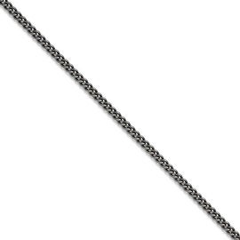 Chisel Stainless Steel 4.0mm 20in Round Curb Antiqued Chain (4 mm) - 20 in