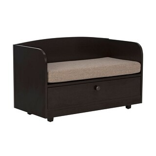 Offex Pet Bed with Storage Drawer - Espresso/Sand