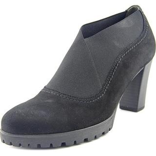Gabor 35252 Women Round Toe Leather Black Bootie