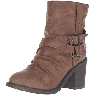 Blowfish Womens Moran Faux Leather Slouchy Motorcycle Boots - 8.5 medium (b,m)