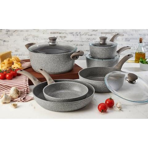 Ballarini Modena Forged Aluminum 10-pc Nonstick Cookware Set - Granite
