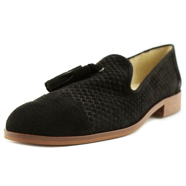 Sixtyseven 78841 Women Round Toe Suede Black Loafer