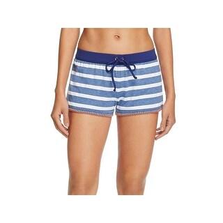 Splendid Womens Stripe Stitched Trim Boy Shorts