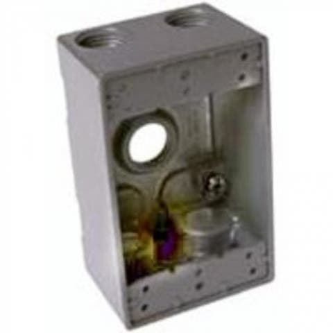 "Bell 5331-0 1 Gang Outlet Weatherproof Box, Aluminum, Gray, 3/4"""