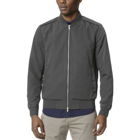 Theory Mens Brant Williston Slim Fit Bomber Jacket Small S Grey