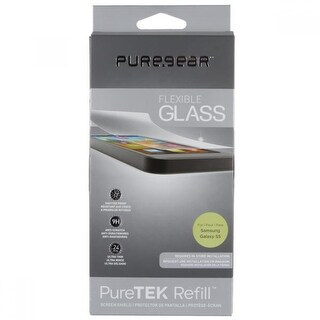 PureGear Puretek, Refill, Flexible Glass Screen Protector for Samsung Galaxy S5