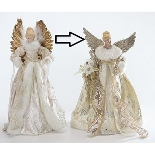 "16.5"" Graceful Golden Angels Christmas Tree Topper - Unlit"