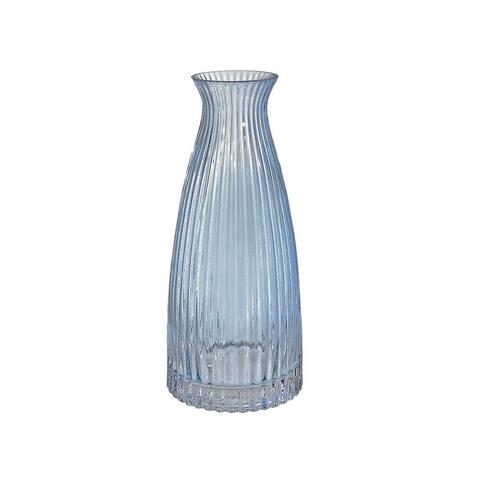 Light Blue Bottleneck Glass Vase