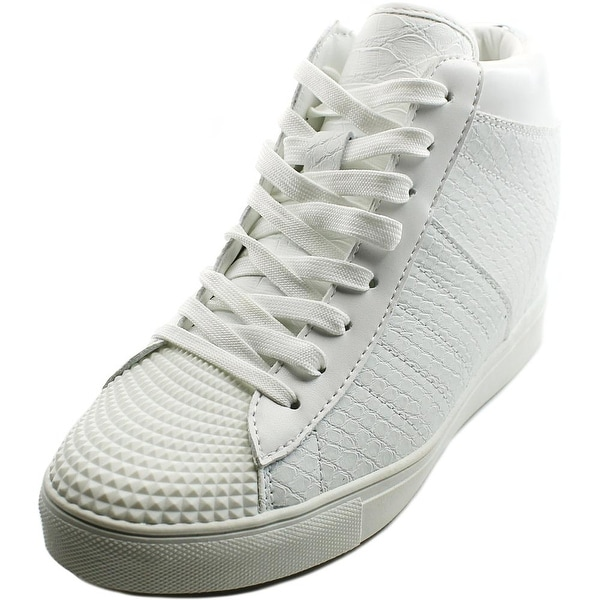 Madden Girl Supastud Women Round Toe Synthetic White Sneakers