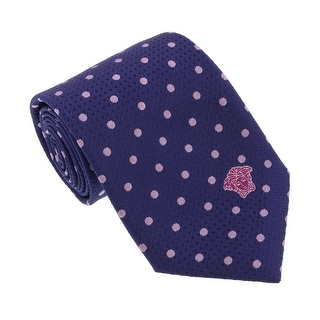 Versace Blue/Lilac Woven Circle Grid Tie