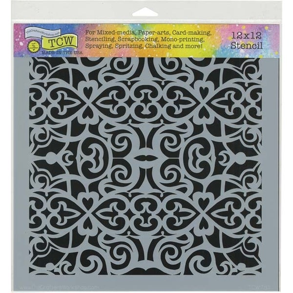 "Scrollwork - Crafter's Workshop Template 12""X12"""