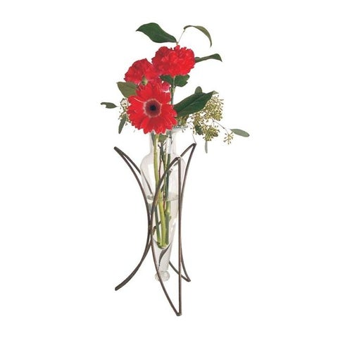 Danya B MC754-C Vase on Half Moon Stand H: 14 Inch
