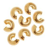 Bright Gold Tone Crimp Bead Covers 5mm (x144)