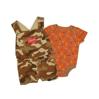 Farm Boy Western Shirt Boys Shortall Set Coverall S/S Camo F31484123