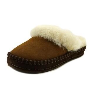 UGG Oaken Toddler Round Toe Synthetic Tan Slipper