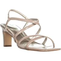 Bandolino Obexx Heeled Strappy Sandals, Light Natural