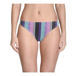 Raisins Womens Juniors Opposites Attract Striped Low-Rise Swim Bottom Separates