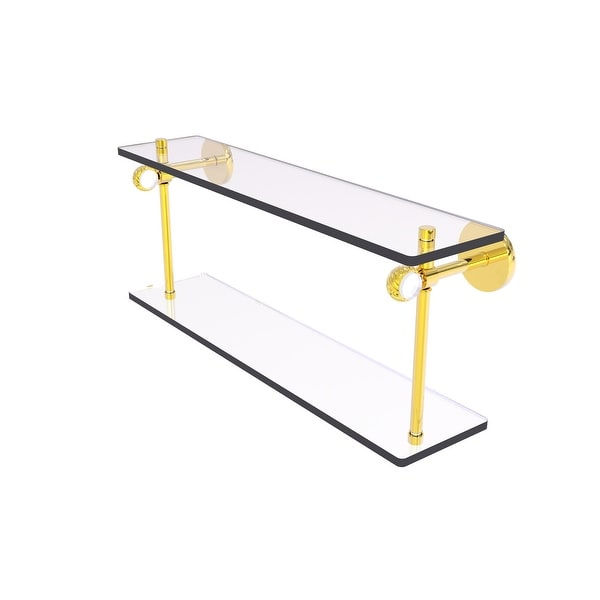 Allied Brass Clearview Collection Two Tiered Glass Shelf with Twisted Accents