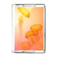 Orange Jellyfish - Lantern Press Photography (Acrylic Serving Tray)