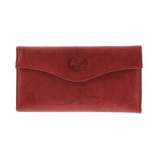 Buxton Womens Heiress Leather Flap Organizer Wallet