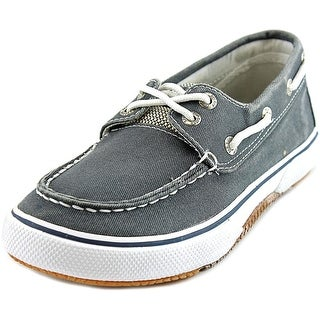 Sperry Top Sider Halyard Youth Moc Toe Canvas Blue Boat Shoe