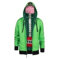 Minecraft Creeper Anatomy Men's Green Premium Zip-Up Hoodie