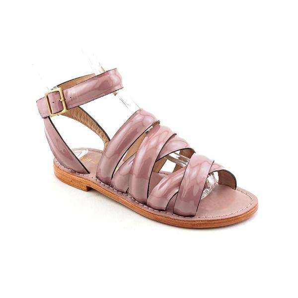 Pour La Victoire Park Women Open Toe Patent Leather Gladiator Sandal