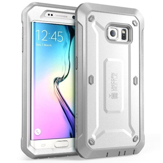 SUPCASE Samsung Galaxy S6 Edge Case - Unicorn Beetle Pro - White/Gray