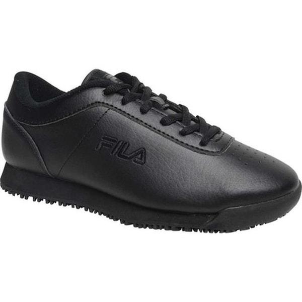 535fb66e Fila Women's Memory Quickstart Slip-Resistant Work Shoe Black/Black/Black