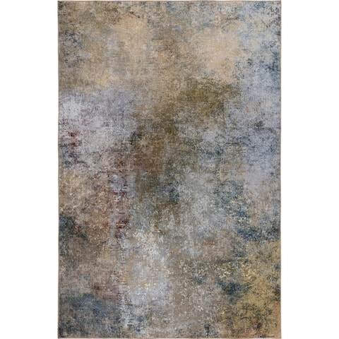 Porch & Den Moon Rise Abstract Pattern Velvet Area Rug