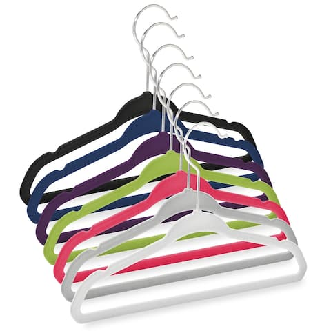 "50 Velvet 11"" Baby Hangers by Casafield"