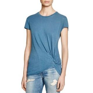 Stateside Womens T-Shirt Knotted Raw Hem