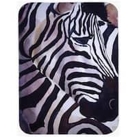 Carolines Treasures  Zebra Head Mouse Pad, Hot Pad & Trivet