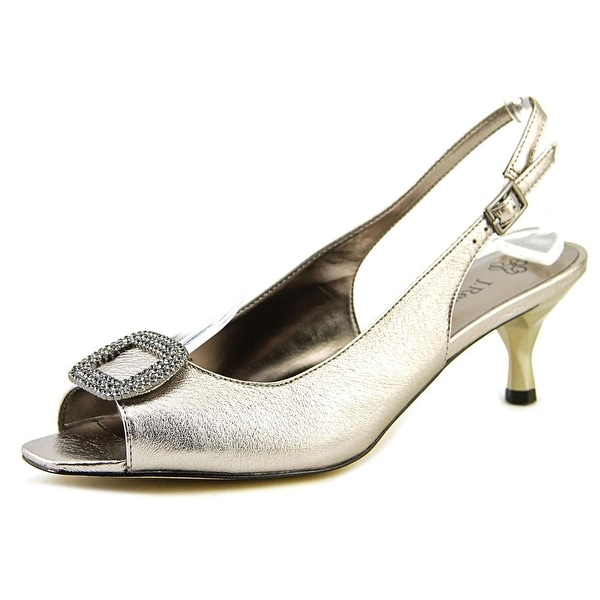 J. Renee Classic Women Taupe Metallic Pumps