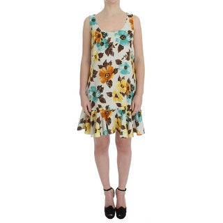 Dolce & Gabbana Dolce & Gabbana Multicolor Floral Shift Above Knee Dress - it42-m