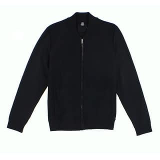 Alfani NEW Deep Black Mens Size Medium M Waffle Knit Full Zip Sweater|https://ak1.ostkcdn.com/images/products/is/images/direct/041dcb4e262bdc054d8be3fd7b16d3fb2d6997b1/Alfani-NEW-Deep-Black-Mens-Size-Medium-M-Waffle-Knit-Full-Zip-Sweater.jpg?impolicy=medium