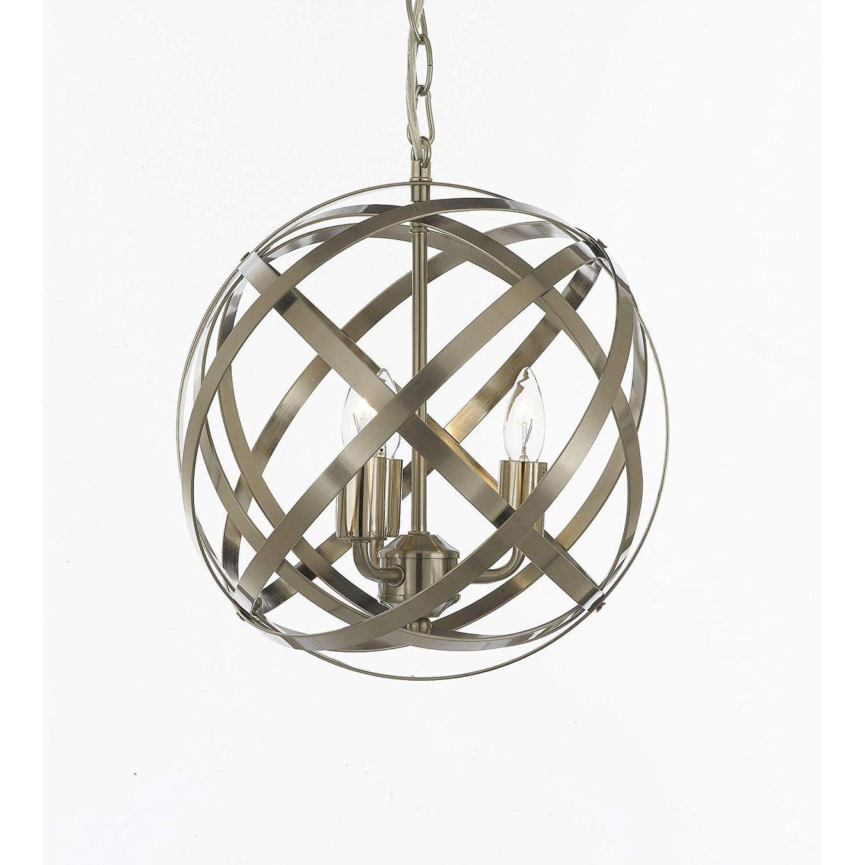 Contemporary Silver 4 Light Orb Chandelier Pendant Lighting