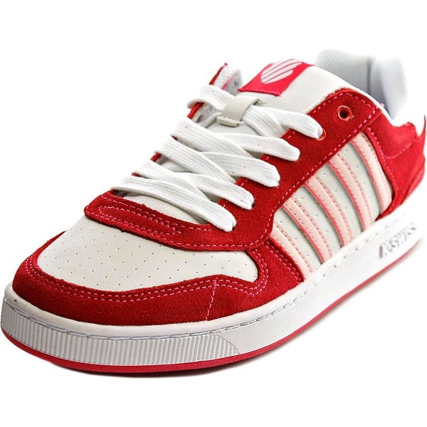 K-Swiss Jackson VLC Girl Raspebrry/White/Crystal Rose Athletic Shoes